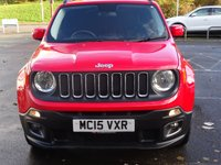 USED 2015 15 JEEP RENEGADE 2.0 M-JET LONGITUDE 5d 138 BHP LOW MILEAGE LOW RDT AX 4X4 WITH NAVIGATION