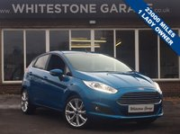 USED 2015 15 FORD FIESTA 1.5  ZETEC 75PS  5d 74 BHP FREE ROAD TAX, 1 LADY OWNER, 23000 MILES, FSH, 80+MPG