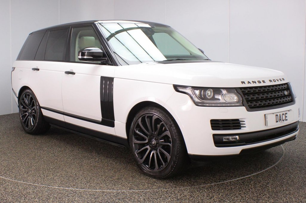 USED 2016 66 LAND ROVER RANGE ROVER VOGUE 3.0 TDV6 VOGUE 5DR AUTO 1 OWNER 255 BHP FULL SERVICE HISTORY + FRONT/REAR HEATED LEATHER SEATS + SATELLITE NAVIGATION + REVERSE CAMERA + PARKING SENSOR + DEPLOYABLE SIDE STEPS + DVB-T TV RECEIVER + HEATED STEERING WHEEL + ELECTRIC/MEMORY SEATS + MERIDIAN PREMIUM SPEAKERS + BLUETOOTH + CRUISE CONTROL + MULTI FUNCTION WHEEL + XENON HEADLIGHTS + PRIVACY GLASS + DAB RADIO + ELECTRIC WINDOWS + ELECTRIC/HEATED DOOR MIRRORS + 22 INCH ALLOY WHEELS