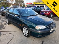 USED 2002 52 TOYOTA AVENSIS 1.8 GS VVT-I 5d 127 BHP IN GREEN WITH ONLY 84700 MILES, GREAT SERVICE HISTORY, 2 OWNERS AND A GREAT SPEC  Approved Cars are pleased to offer this 2002 Toyota Avensis 1.8 VVT-I 5 door in dark green. This car has been extremely well looked after and will make an ideal budget friendly automatic family car. It has done 84700 miles and has been serviced regularly. It has a great spec including Sat nav, electric windows, aircon, automatic gearbox and much much more. For more information or to book a test drive please call our sales team on 01622 871555.