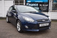 USED 2012 62 FORD FOCUS 1.0 ZETEC 5d 124 BHP Service History, DAB Radio, Bluetooth, Rear Parking Aid
