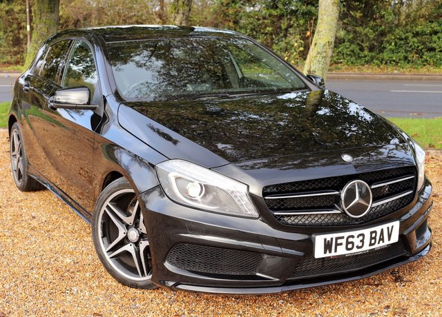 2013 63 MERCEDES-BENZ A-CLASS 1.8 A180 CDI BLUEEFFICIENCY AMG SPORT 5d 109 BHP/ NIGHT PACK/ PART LEATHER TRIM/ LED LIGHTS/ PRIVACY GLASS
