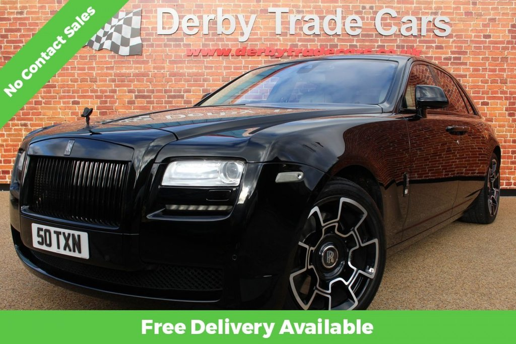 USED 2013 ROLLS-ROYCE GHOST 6.6 V12 4d AUTO 564 BHP +++BLACK BADGE+PAN ROOF+++