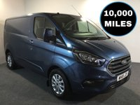 USED 2019 19 FORD TRANSIT CUSTOM 2.0 300 LIMITED P/V L1 H1 129 BHP VERY HIGH SPEC, LONG FORD WARRANTY