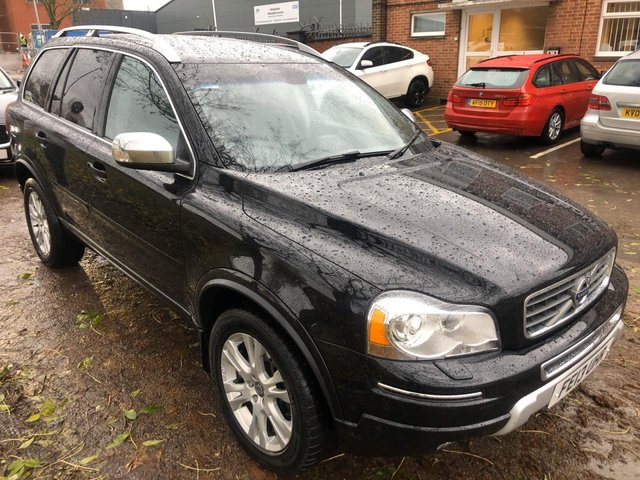 USED 2013 13 VOLVO XC90 2.4 D5 SE LUX AWD 5d 200 BHP VERY CLEAN WELL MAINTAINED EXAMPLE IN A GREAT COLOUR. FULL BLACK LEATHER INTERIOR. ALLOYS WHEELS. HEATEDSEATS. CRUISECONTROL. CLIMATE CONTROL. AIR CON. SATNAV. AUX/USB