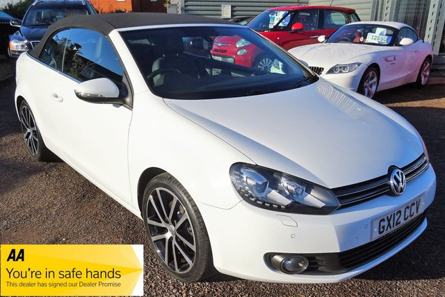 USED 2012 12 VOLKSWAGEN GOLF 2.0 GT TDI BLUEMOTION TECHNOLOGY 2d 139 BHP WITH VERY HIGH SPECIFICATION LEATHER TRIM GOOD HISTORY WITH LOTS OF RECEIPTS