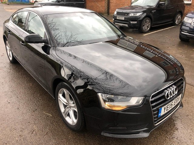 USED 2015 15 AUDI A5 2.0 SPORTBACK TDI SE 5d 134 BHP !!! 1 OWNER FROM NEW !!!  VERY CLEAN WELL MAINTAINED EXAMPLE WITH FULL MAIN DEALER SERVICE HISTORY . FULL LEATHER INTERIOR. AUX/USB. AIR CON. CLIMATE CONTROL. 2 KEYS , FRESH MOT AND SERVICE UPON SALE .