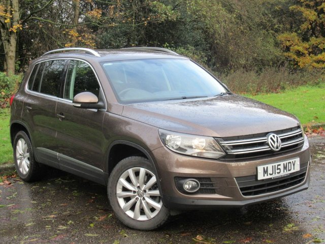 USED 2015 15 VOLKSWAGEN TIGUAN 2.0 MATCH TDI BLUEMOTION TECH 4MOTION DSG 5d 139 BHP * 128 POINT AA INSPECTED * ONE OWNER FROM NEW * SATELLITE NAVIGATION *