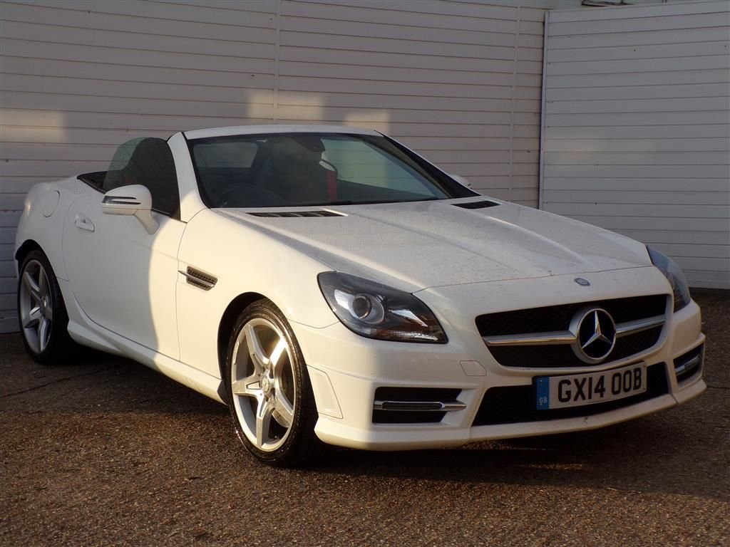 USED 2014 14 MERCEDES-BENZ SLK 2.1 SLK250 CDI BLUEEFFICIENCY AMG SPORT 2d 204 BHP FULL LEATHER GLASS ROOF