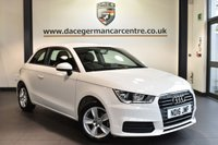 "USED 2016 16 AUDI A1 1.0 TFSI SE 3DR 93 BHP Finished in a stunning white styled with 15"" alloys. Upon opening the drivers door you are presented with cloth upholstery, excellent service history, dab radio, sport seats, free road tax, heated mirrors, air conditioning"