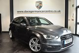 """USED 2015 15 AUDI A3 2.0 SPORTBACK TDI S LINE 5DR 182 BHP full service history Finished in a stunning daytona metallic grey styled with 18"""" alloys. Upon opening the drivers door you are presented with half leather interior, full service history, satellite navigation, bluetooth, climate control,  dab radio,sport seats, multi-functional steering wheel, AUX/USB port, heated windscreen, parking sensors"""