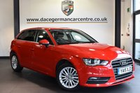"USED 2015 15 AUDI A3 2.0 TDI SE TECHNIK 5DR 148 BHP full service history Finished in a stunning red styled with 16"" alloys. Upon opening the drivers door you are presented with cloth upholstery, full service history, satellite navigation, bluetooth, cruise control, heated seats, multi-functional steering wheel, heated folding mirrors, rear parking sensors, DAB radio"
