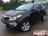 USED 2013 13 KIA SPORTAGE 2.0 CRDI KX-2 5d 134 BHP AUTO PAN ROOF FSH PANORAMIC SUNROOF. STUNNING BLACK MET WITH BLACK LEATHER TRIM. CRUISE CONTROL. 17 INCH ALLOYS. COLOUR CODED TRIMS. PRIVACY GLASS. PARKING SENSORS. BLUETOOTH PREP. AIR CON. MEDIA CONNECTIVITY. R/CD PLAYER. AUTO GEARBOX. MFSW. MOT 11/20. SERVICE HISTORY. PRESTIGE SUV CENTRE LS23 7FR. TEL 01937 849492 OPTION 1