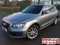 USED 2011 11 AUDI Q5 2.0 TDI QUATTRO SE 5d 141 BHP LEATHER HEATED SEATS FSH 4WD. STUNNING GREY MET WITH BLACK LEATHER TRIM. HEATED SEATS. 18 INCH ALLOYS. COLOUR CODED TRIMS. PRIVACY GLASS. PARKING SENSORS. BLUETOOTH PREP. CLIMATE CONTROL. 6 SPEED MANUAL. TRIP COMPUTER. R/CD/MP3 PLAYER. MFSW. MOT 01/21. SERVICE HISTORY. PRESTIGE SUV CENTRE LS23 7FR. TEL 01937 849492 OPTION 1