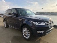USED 2013 63 LAND ROVER RANGE ROVER SPORT 3.0L SDV6 HSE 5d AUTO 288 BHP Fabulous LOW Mileage example with Only 58673 miles with Full Land Rover Service history