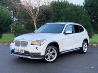 USED 2015 15 BMW X1 2.0 XDRIVE20D XLINE 5d 181 BHP X1 M SPORT AUTOMATIC SAT NAV IN WHITE BLACK SPORTS LEATHER ONLY 47k FSH