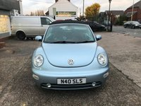 USED 2003 N VOLKSWAGEN BEETLE 2.0 CABRIOLET 8V 2d 114 BHP FULL SERVICE HISTORY-LEATHER-HEATED SEATS-ELECTRIC ROOF-ALLOYS