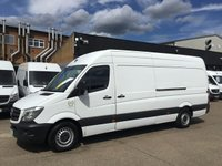 USED 2016 66 MERCEDES-BENZ SPRINTER 2.1 313CDI LWB HIGH ROOF 130BHP. LOW 43K MILES. ULEZ. PX LOW 43K MILES. ULEZ COMPLIANT. LOW FINANCE. PX