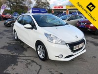 2013 PEUGEOT 208 1.2 ACTIVE 3d 82 BHP IN BRIGHT WHITE WITH ONLY 30000 MILES IN IMMACULATE CONDITION WITH A GREAT SPEC. £4299.00