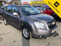 2012 CHEVROLET ORLANDO 1.8 LT 5 DOOR 141 BHP IN METALLIC GREY WITH ONLY 62000 MILES WITH A FULL SERVICE HISTORY AND A GREAT SPEC WITH 7 SEATS AND A FULLY AUTOMATIC GEARBOX. £4499.00