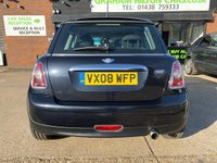 USED 2008 08 MINI HATCH ONE 1.4 ONE 3d 94 BHP TWO FORMER KEEPERS, ALLOYS, AIR CONDITIONING, ISOFIX, RADIO, CD PLAYER, PUSH BUTTON START, FOLDING REAR SEATS, METALLIC PAINT,  SERVICE HISTORY, NEW MOT