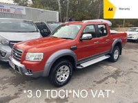 2007 FORD RANGER *NO VAT*3.0 WILDTRAK 4X4 LWB D/C  2d 156 BHP *RARE 3.0 TDCi*WILDTRAK*MANUAL* £4995.00
