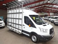 USED 2015 15 FORD TRANSIT 2.2 350 H/R P/V 125 BHP LWB L3 H2 GLASS FRAIL / GLASS CARRIER VAN - AA DEALER WARRANTY PROMISE - TRADING STANDARDS APPROVED -