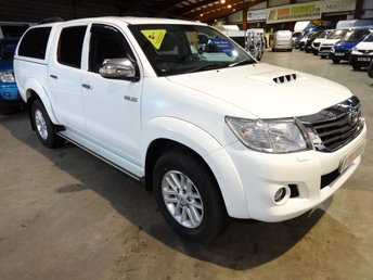 2015 TOYOTA HI-LUX 2.5 ICON 4X4 D-4D DCB 142 BHP DOUBLE CAB PICK UP WITH SAT NAV £13995.00