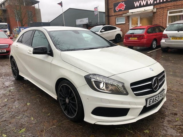 USED 2013 63 MERCEDES-BENZ A-CLASS 2.1 A220 CDI BLUEEFFICIENCY AMG SPORT 5d 170 BHP AUTOMATIC IMMACULATE THROUGHOUT AND THE DRIVE IS SUPERB , PREMIUM COLOR , IN AUGUST 2019 VEHICLE HAD , RECONDITIONED GEAR BOX INCLUDING MULTI CLUTCH UNIT , FLYWHEEL , ALL TO MANUFACTURERS TOLERANCES .