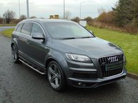 "USED 2012 12 AUDI Q7 3.0 TDI QUATTRO S LINE PLUS 5d 245 BHP AUTO 7 SEATER, 21"" ALLOYS, STEPS"
