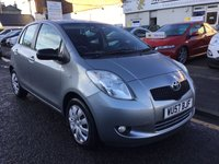 USED 2008 57 TOYOTA YARIS 1.3 T3 VVT-I MM 5d AUTO 86 BHP 1 OWNER LOW MILLAGE AUTOMATIC