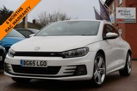 USED 2015 65 VOLKSWAGEN SCIROCCO 2.0 R LINE TDI BLUEMOTION TECHNOLOGY 2d 150 BHP 19 INCH ALLOYS, SATELLITE NAVIGATION + FULL LEATHER