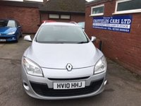 USED 2010 10 RENAULT MEGANE 1.5 EXPRESSION DCI 5d 85 BHP ESTATE DIESEL, 78K MILES, PREVIOUSLY SUPPLIED BY US