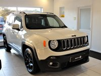 USED 2015 64 JEEP RENEGADE 1.4 Petrol. Quilted Leather, Heated Seats, Sat Nav, Bluetooth Dealer + 1 Owner 1.4 Petrol JEEP Renegade with a very special upholstered interior with Renegade logos in contrasting stitch and heated front seats. Touch screen satellite navigation, Bluetooth, DAB Digital Radio, Unmarked satin black alloy wheels, Privacy dark-tint rear windows,  Spare remote key and 3 months RAC warranty included with 12 months RAC BuySure Assist cover. Serviced 4 times and will be serviced again with a new MoT. ULEZ exempt. VIEWING BY APPOINTMENT.