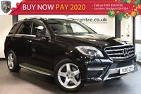 """USED 2013 13 MERCEDES-BENZ M CLASS 2.1 ML250 BLUETEC AMG SPORT 5DR AUTO 204 BHP full mercedes service history  Finished in stunning obsidian black styled with 19"""" alloys. Upon entering the drivers door you are presented with half black leather interior, full mercedes service history, satellite navigation, bluetooth, reversing camera, active park assist, electric folding mirrors, headlight cleaning system, privacy glass, AMG stying package"""