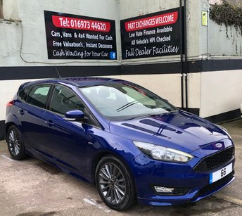 2016 FORD FOCUS ST-LINE 1.5 TDCi 5DR 120 BHP, 1 OWNER, FREE ROAD TAX £11495.00