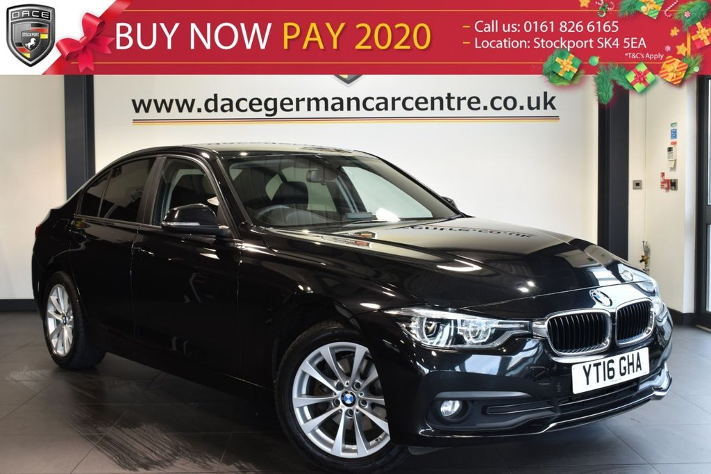 """USED 2016 16 BMW 3 SERIES 2.0 320D XDRIVE SE 4DR AUTO 188 BHP full service history  Finished in stunning black metallic sapphire styled with 17"""" alloys. Upon entering the drivers door you are presented with cloth upholstery, full service history, satellite navigation, rear view camera, bluetooth, heated seats, cruise control, parking sensors, lumbar support, dab radio, privacy glass, rain sensors,  Automatic air conditioning"""
