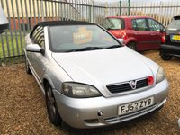 2002 VAUXHALL ASTRA 1.6 COUPE CONVERTIBLE 16V 2d 99 BHP Selling as spares and repairs MOT UNTIL 18TH November 2019 £395.00
