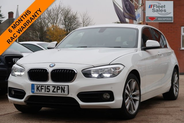 USED 2015 15 BMW 1 SERIES 2.0 120D SPORT 5d 188 BHP SATELLITE NAVIGATION ,FRONT AND REAR PARKING AID
