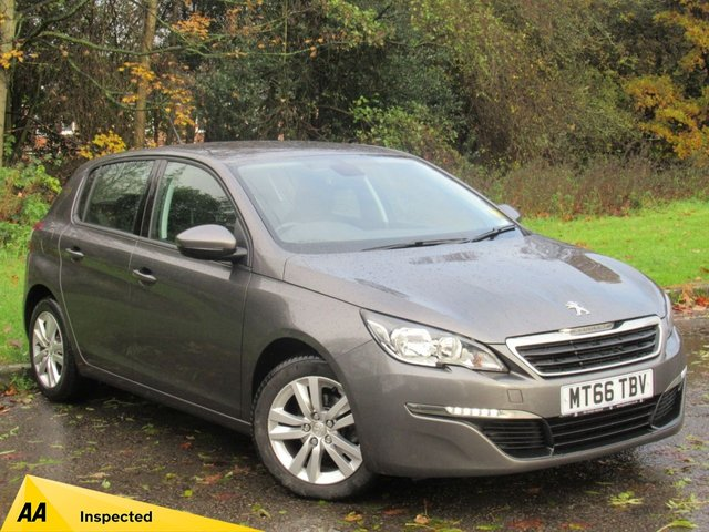 USED 2016 66 PEUGEOT 308 1.6 BLUE HDI S/S ACTIVE 5d 100 BHP FULL SCREEN SATELLITE NAVIGATION