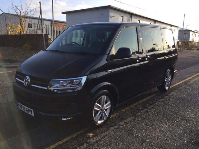 USED 2019 19 VOLKSWAGEN TRANSPORTER KOMBI T32 SWB Highline 204ps DSG Auto (Sun Roof, LED Headlights, LED Tail LIghts, Disco Nav, Twin Electric Sliding Doors, Power Latch Tailgate, 2+1 Rear Seats, Heated Front Seats, Electric Folding Mirrors, Comfort Dash)