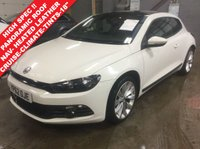 2012 VOLKSWAGEN SCIROCCO 2.0 GT TDI BLUEMOTION TECHNOLOGY..PAN ROOF..LEATHER..NAV £8990.00