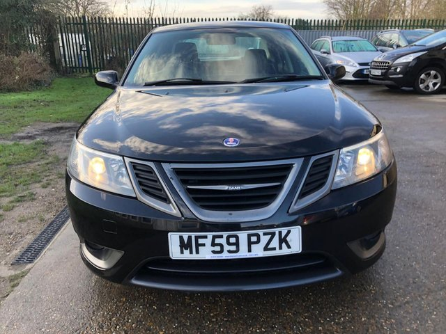 USED 2009 59 SAAB 9-3 2.0 TURBO EDITION 4d 150 BHP LEATHER TRIM + SERVICE HISTORY 8 STAMPS !!!