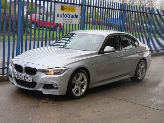 USED 2012 62 BMW 3 SERIES 330D M Sport Auto  4dr Full leather Paddle shift Front & rear park