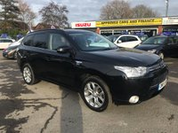 2015 MITSUBISHI OUTLANDER 2.0 PHEV GX 4H 5d 162 BHP IN METALLIC BLACK WITH 76400 MILES, FULL SERVICE HISTORY, 1 OWNER AND IS A HYBRID AUTOMATIC £13699.00