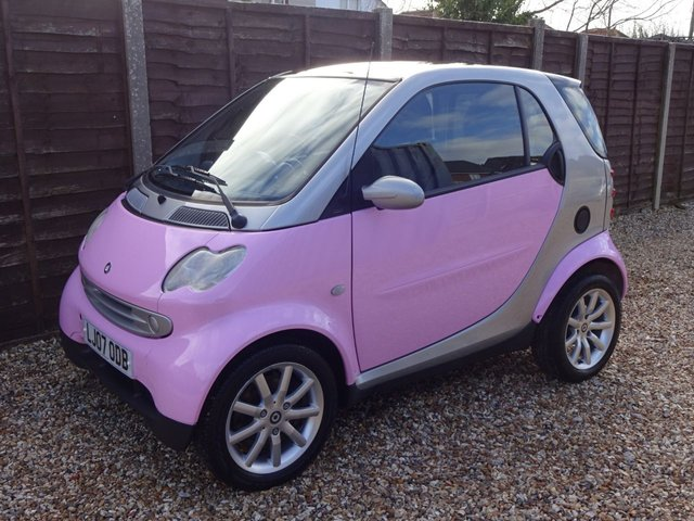 USED 2007 07 SMART FORTWO 0.7 PASSION PINK EDITION COUPE 6 MONTHS RAC WARRANTY, LONG MOT, READY TO GO