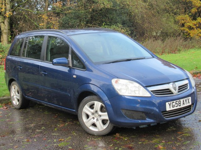 USED 2008 58 VAUXHALL ZAFIRA 1.9 EXCLUSIV CDTI 5d 120 BHP VALUE FOR MONEY 7 SEAT FAMILY CAR