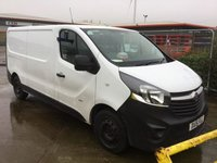 2015 VAUXHALL VIVARO 1.6 2900 L2H1 CDTI P/V 114 BHP + 1 FORMER KEEPER + VAT £7250.00