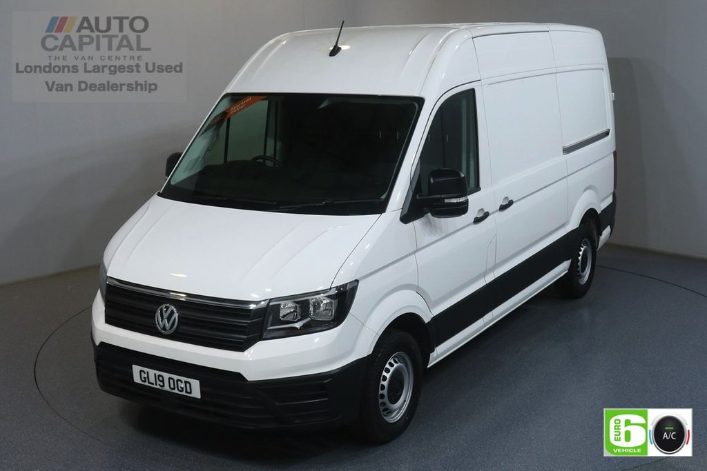 USED 2019 19 VOLKSWAGEN CRAFTER 2.0 CR35 TDI STARTLINE 138 BHP MWB EURO 6 ENGINE BUSINESS PACK, AIR CON, FRONT- REAR PARKING SENSORS