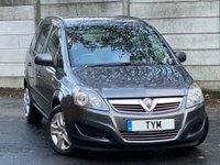 2012 VAUXHALL ZAFIRA 1.7 EXCLUSIV CDTI ECOFLEX 5d 108 BHP £3495.00